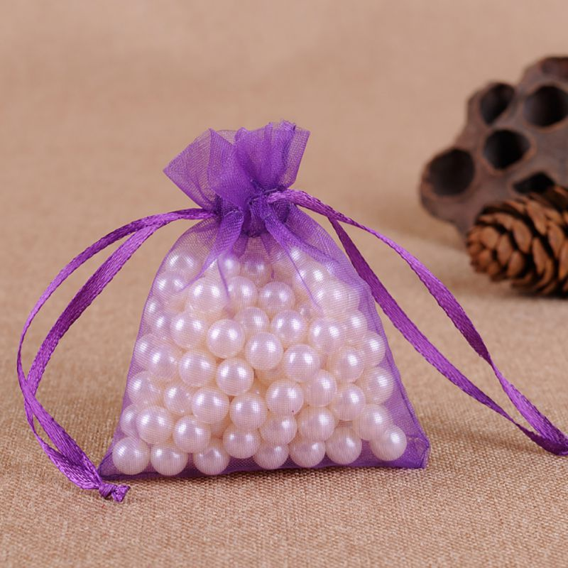 9x12 cm Organza Bags Wedding Pouches Jewelry Packaging Bags Nice Gift Bag Mix Colors 100 pcs