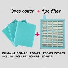 Luftfilter für Philips FC8634//01 Flachfilter Hepa Filter