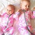 Ребенка ползунки 2017 новое прибытие весна и осень ребенка ползунки с длинным рукавом мультфильм губы печатных новорожденных ползунки младенческой ребенок jumpersuit