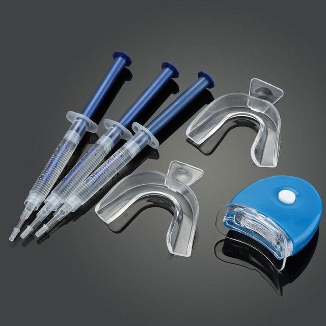 Ogreen 44% CP профессионального Отбеливание зубов комплект отбеливание Системы яркий белый улыбается Отбеливание зубов гель комплект со светодиодной подсветкой