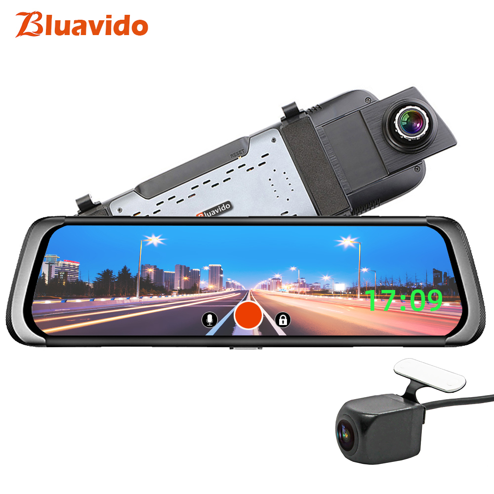 Bluavido 10 inch Mirror 4G Android Car DVR GPS Navigation ADAS FHD 1080P Dash Camera autoregistrar