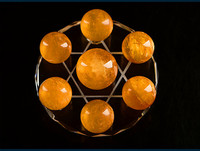 Natural yellow crystal ball seven ball bursts of iceland crystal ornaments