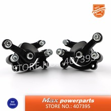 Wholesale Left + Right Disc Brake Calipers For 2 Stroke 43 47 49 cc Chinese Mini Moto ATV Quad 4 Wheeler Dirt Bike Goped Scooter