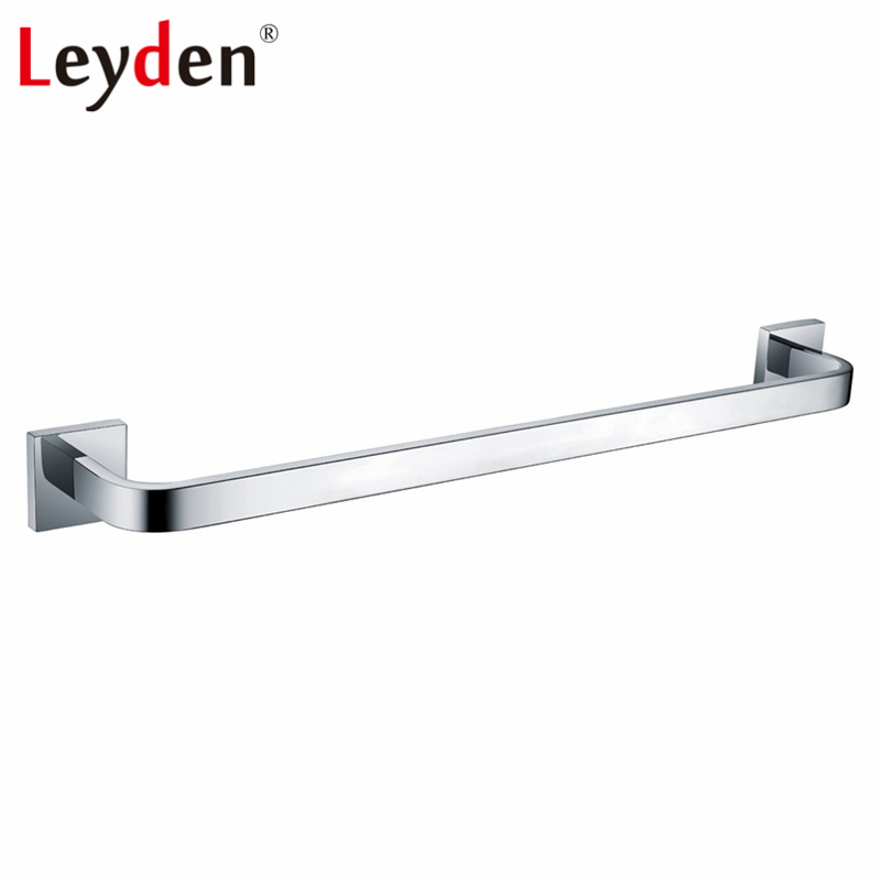 Leyden Stainless Steel Polished Chrome Single Towel Bar Holder Wall Mounted Rounded Style Towel Rack Bar Bathroom Accessories стоимость