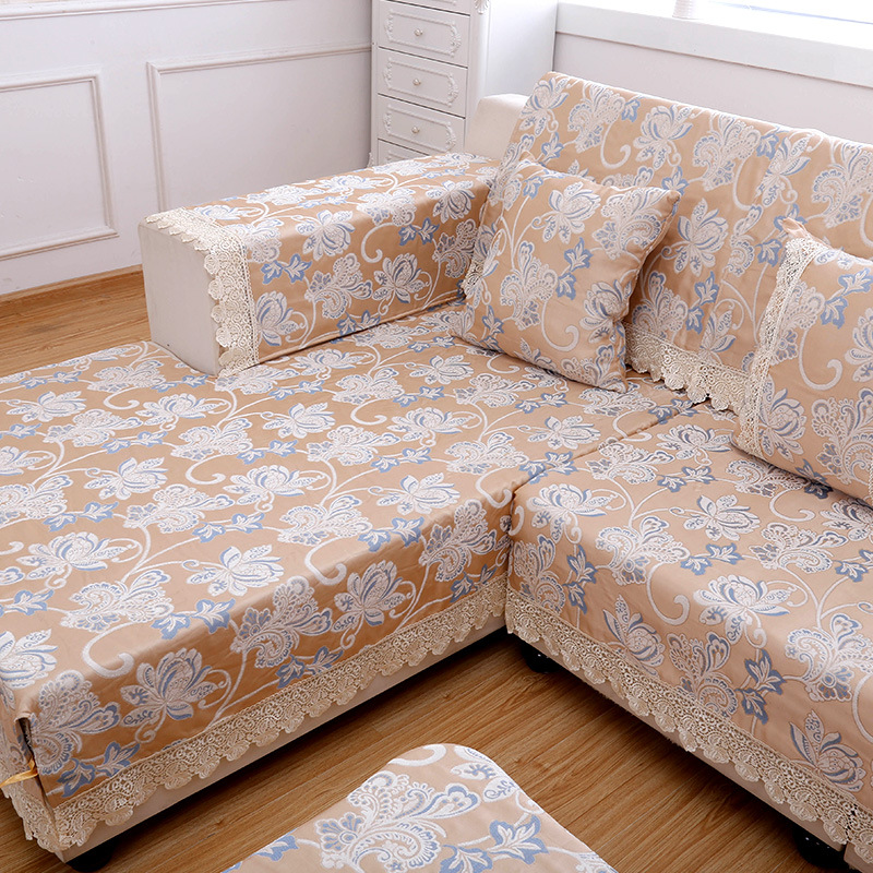 Sofa Slipcover Jacquard Corner Sofa Cover Set Armrest Slipcover Couch  Covers Sectional Seat Covers Sofa Towel For Living Room In Sofa Cover From  Home ...