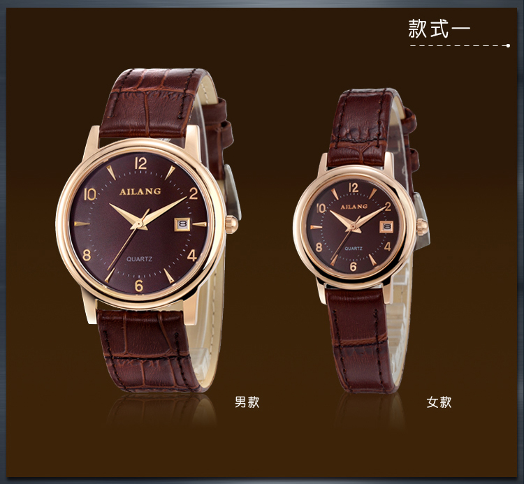 Simple Fashion Couple Brand Real Leather Watches Quartz Men Women Calendar Statement Wrist watch Waterproof Analog Relojes W045