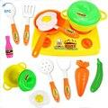 XFC Crianças Crianças Brincar de Casinha de Brinquedo Utensílios de Cozinha Cozinhar Alimentos Pratos Panelas Potes Panelas Suprimentos