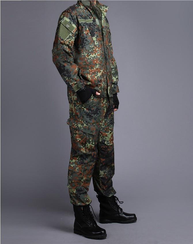 GERMAN ARMY WOODLAND CAMO Suit ACU BDU Military Camouflage Suit sets CS Combat Tactical Paintball Uniform Jacket & Pants gown