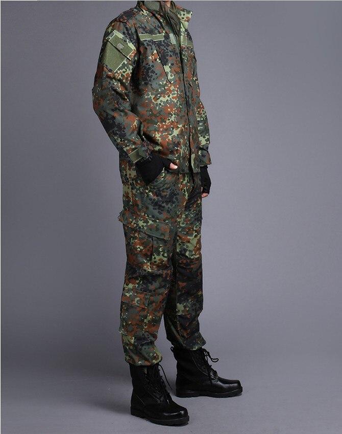 Armée allemande forêt Camouflage costume ACU BDU militaire Camouflage costume ensembles CS Combat tactique Paintball uniforme veste et pantalon