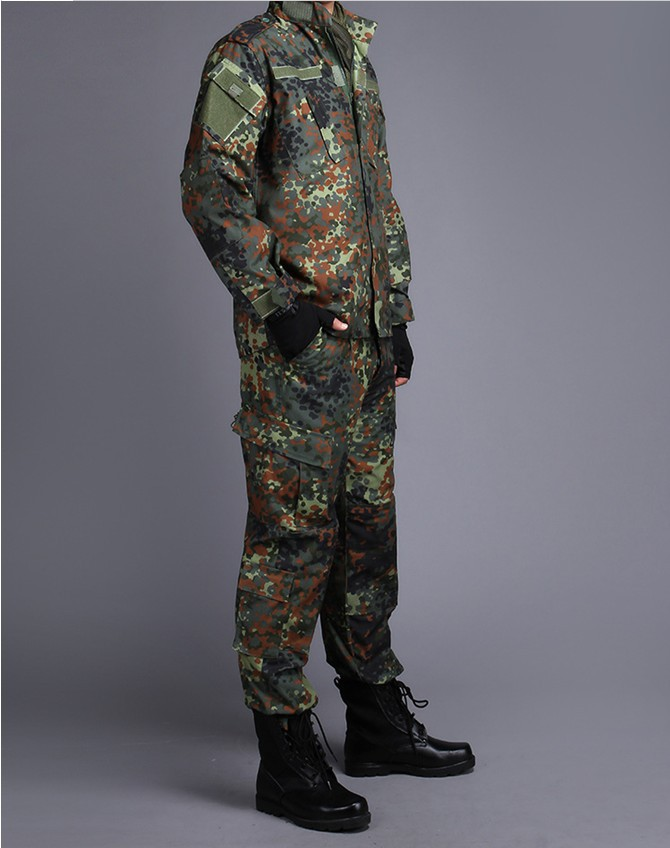GERMAN ARMY WOODLAND CAMO Suit ACU BDU Military Camouflage Suit sets CS Combat Tactical Paintball Uniform Jacket & Pants