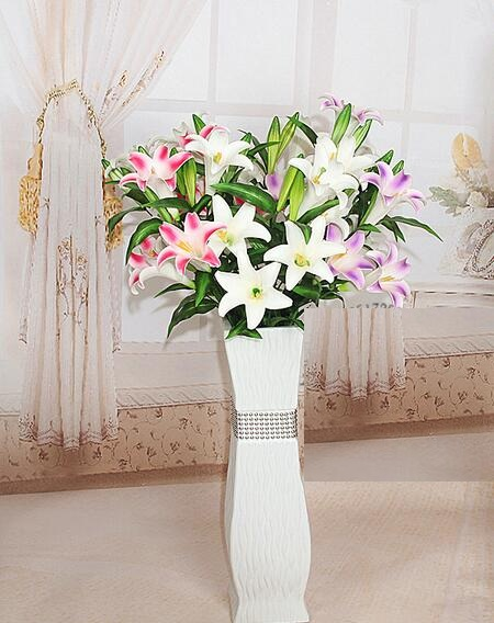 97cm Pu Latex Calla Lily Flower Real Touch Wedding Bouquet Flowers