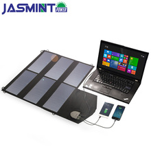 36W 18V Dual USB Advanced Solar Charger Foldable Flexible Panel for Cell Phones Tablets Laptop Car Battery etc camping
