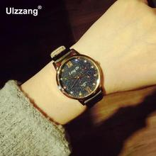 Luxury Bling Crystal Diamond Leather Quartz Wristwatches Wrist Watch for Women Ladies Girls Black White Brown