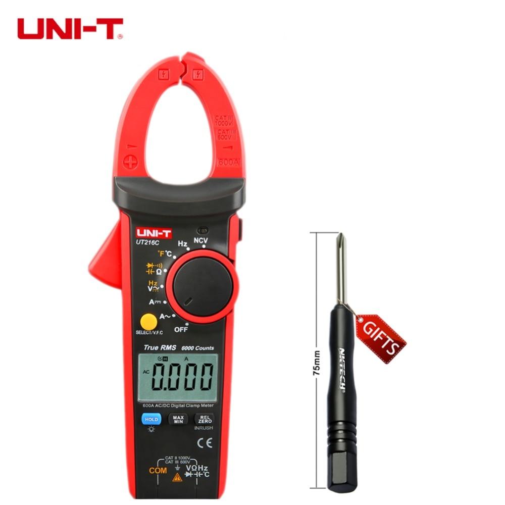 Uni-t UT216C 600а правда RMS 6000 графы цифровые частота емкость температуры и NCV тест мегаомметр