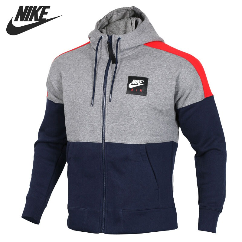 Original New Arrival 2018 NIKE NSW HOODIE AIR FZ FLC Men s Jacket Hooded Sportswear