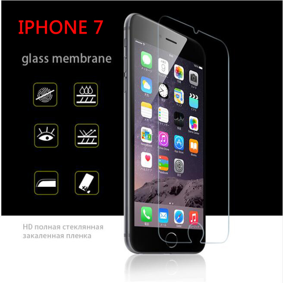 2.5D 9H protective on the for iphone 7 glass screen protector tempered glass for iphone se 7 8 plus 6 5s 5 4S glass for iphone x-in Phone Screen Protectors from Cellphones & Telecommunications