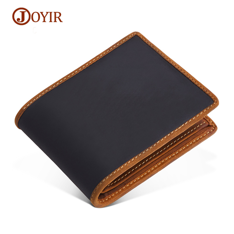 JOYIR Men Wallets Cowhide Leather Wallet Men Small Genuine Leather Men's Purse Coin Purse Slim Short Card Holder Male Wallet westal genuine leather men wallets leather man short wallet vintage man purse male wallet men s small wallets card holder 8866