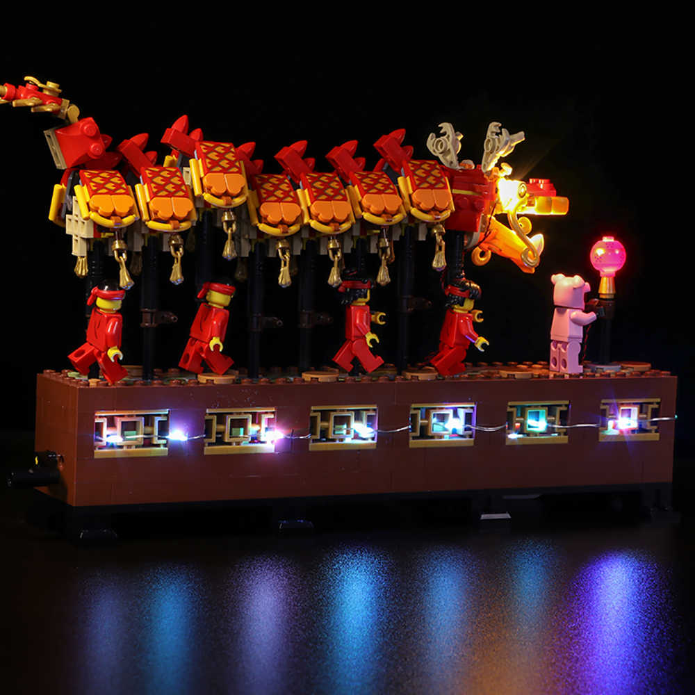 Led light for 46002 Dragon Dance for Lego 80102 Model Set Building Blocks Bricks Assembled DIY Toy Gifts(Only Light)
