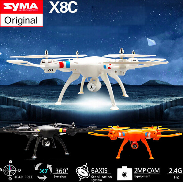 2015 Newest Drone With Camera Syma X8C 2.4G 4ch 6 Axis Venture with 2MP Wide Angle Camera RC Quadcopter RTF RC Helicopter image
