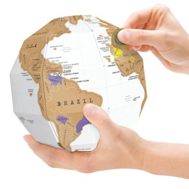 Free shipping creative diy scratch off map travel scratch world map free shipping creative diy scratch off map travel scratch world map globe as home decor gift gumiabroncs Image collections