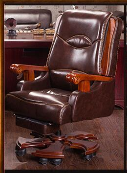 Boss chair. Real leather computer chair. Home massage can lie in the leather chair. Solid wood armrest office chair.26 the boss chair is real leather the home can be massaged leather big class chair seat computer chair