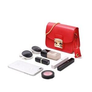 Image 4 - LAFESTIN Famous Shoulder Bag Women Designer Real Leather Flap Crossbody Bag Luxury Totes Multifunction brands Bag bolsa