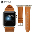 CAFELE WatchBand For Apple Watch 38mm 42mm Leather Wrist bracelet watch Strap Band For iWatch Light brown Dark brown optional