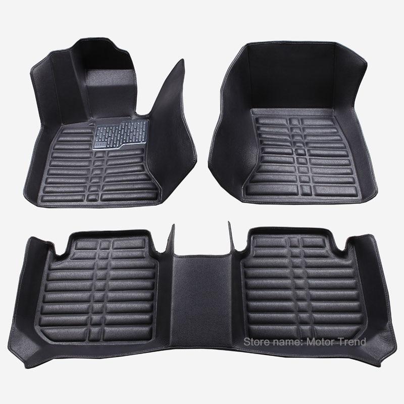 Custom fit car <font><b>floor</b></font> mats for <font><b>Ford</b></font> Edge <font><b>Escape</b></font> Kuga Fusion Mondeo Explorer Focus Fiesta car styling carpet liner RY33