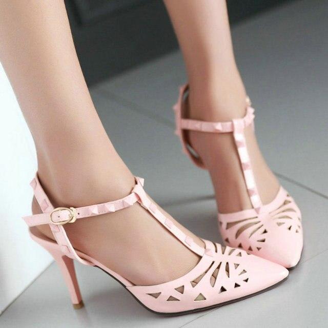 2015 сексуальные высокие пятки женщины насосы острым носом slingback сандалии вырезы дамы свадебные туфли