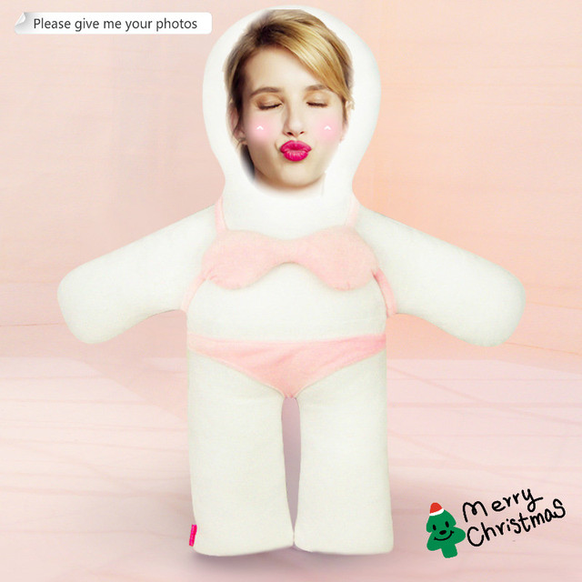 Photo custom pillow pink bikini humanoid cushion Christmas decorations diy gift custom Doll Birthday Valentine's Day Gifts