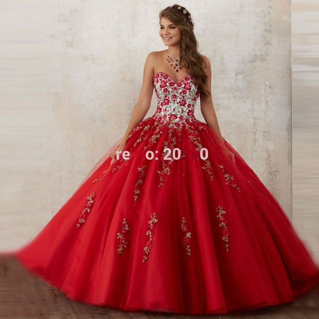 Vermelhos e inchados vestidos tulle masquerade quinceanera sweet 16 vestidos vestidos de baile vestidos de 15 años debutante princesa