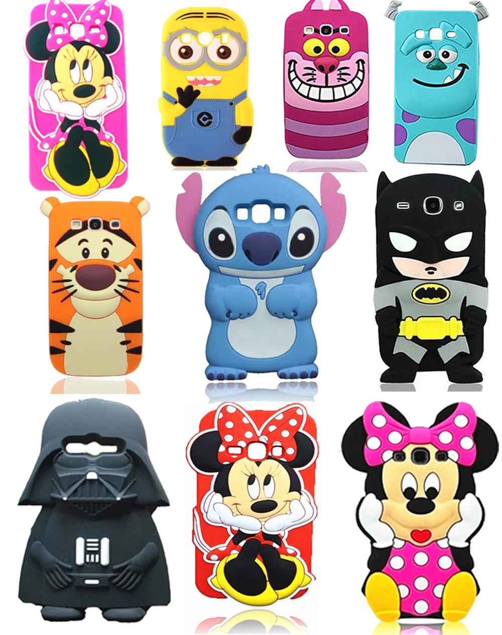 3D Cartoon Characters Soft Silicone Case for Samsung