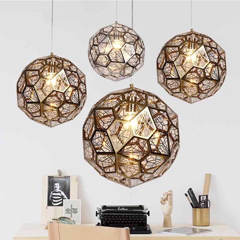 Modern Pendant Lamp Stainless Steel Creative Circle Pendant Light LED Firework Lamp Ball Restaurant  Foyer Cafe Decor 110V 220V