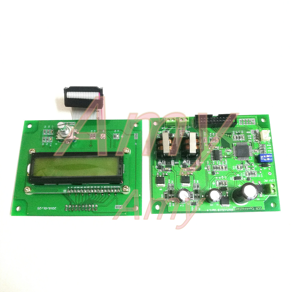 Battery spot welding control panel16 single chip microcomputer control1602 LCD encoder double pulse SCR driver without module