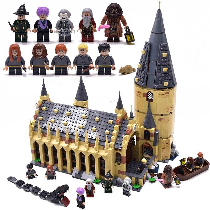 Nuovo Harry Potter Serices Hogwarts Sala Grande Compatibilità Legoing Harry Potter 75954 Blocchi di Costruzione Giocattoli dei Mattoni del Regalo Di Natale