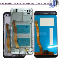 For Huawei Y6 Pro 2017 / Enjoy 7 LCD Display Touch Screen Panel Digitizer Assembly with Frame For Huawei P9 Lite Min
