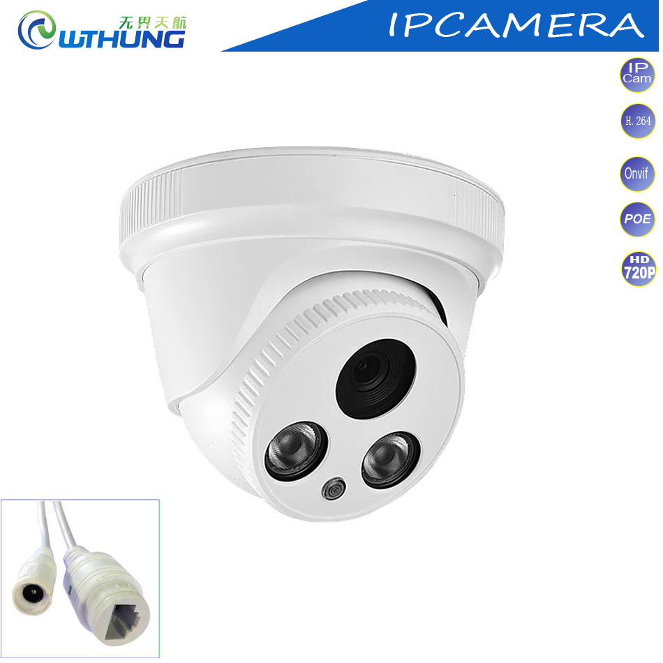 Hot Network IP Camera 1.0MP 720P CMOS POE module CCTV Surveillance dome Cam intdoor 2 Array IR Lamp for security monitor camera new audio ip camera video surveillance security cctv camer network ir dome ip cam with external microphone