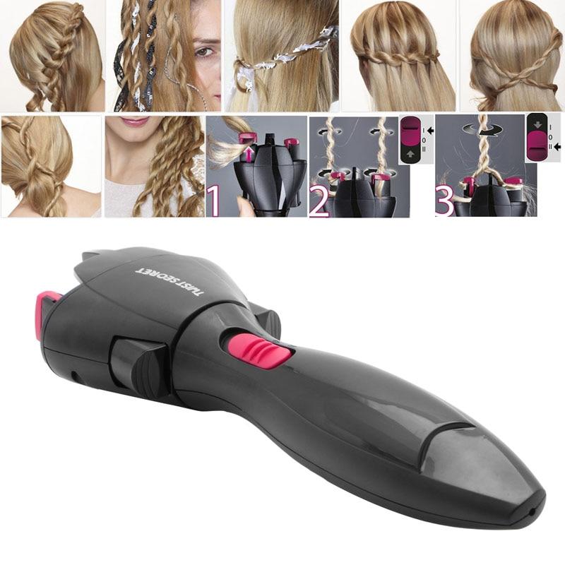 Поворот косу автоматический трикотажные устройство Волос Braiders Стиль гаджет для Для женщин