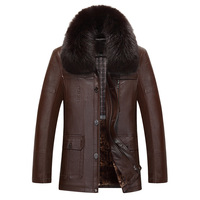 Man Winter Fur Coat Middle Aged Men S Leather Jacket Velvet Thickening Sheep Leather Jackets Men