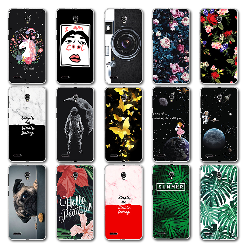 Newest Fashion Lovers Case Leaves For <font><b>Alcatel</b></font> One Touch Pop 2 <font><b>7043Y</b></font> Cute Back Cover For <font><b>Alcatel</b></font> Pop2 (5.0