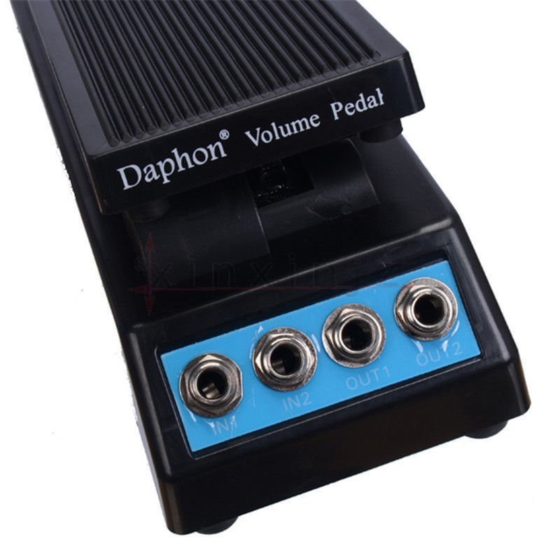 daphon guitar stereo volume pedal dj guitar effect pedal df1511a daul in out in guitar parts. Black Bedroom Furniture Sets. Home Design Ideas