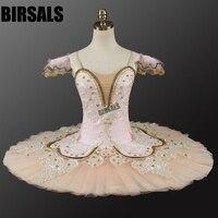Hot Sale Spring Pink Fairy Professional Ballet Tutu Girls Platter Classic Ballerina Tutu Dress WomenBT9044B