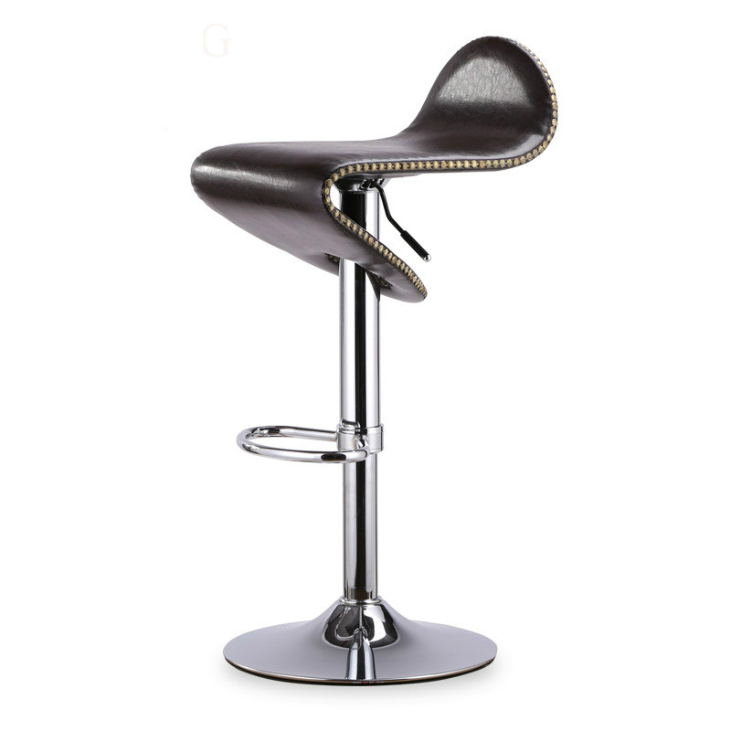Bar Chair Lifting And Rotating High Chair Bar Front Desk Cashier Swivel Chair Fashion Metal Plating Footrest And Handle Bar
