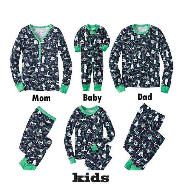 Familia Pijamas De Navidad Ropa A Juego Madre E Hija Hijo Trajes