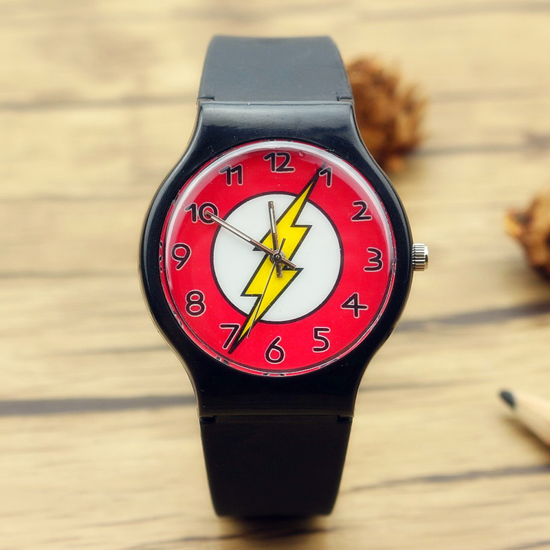 Top selling Fashion Animation The Flash silicone watches for children promotion gift cartoon quartz wristwatches children watch manufacturers selling q version of the cartoon car silicone tape patted the table the students love to a child