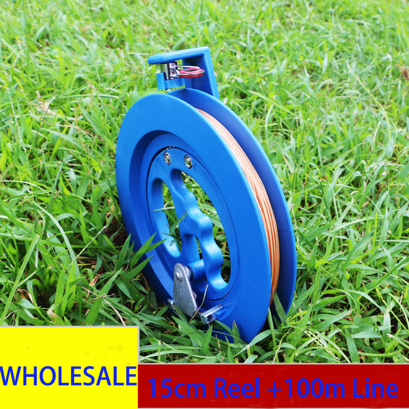 Free Shipping Hot Sell 15cm Kite Reel With 100m Kite Line 18cm Reel 200m Child Kite Handle  So Comfortable Delta Kites