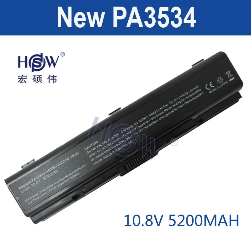 HSW laptop battery For Toshiba pa3534 pa3534u PA3534U-1BAS PA3534U-1BRS Satellite A300 A500 L200 L300 L500 L550 L555 bateria цена