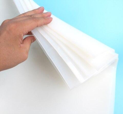 folha de borracha de silicone 500 500mm claro translucido almofada de borracha silikon mat placa