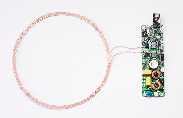 Módulo de carga inalámbrica de larga distancia, alta potencia, 100W, eficiencia de acoplamiento resonante PCBA