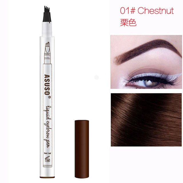 Hot Sale Microblading Eyebrow Tattoo Pen Waterproof Eye Makeup 3 Colors Easy Use Eyebrow Pen Deep Color Pencil Eyebrow 3
